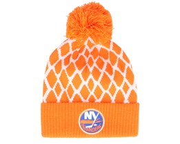 New York Islanders Culture Cuffed Knit Orange Pom - Adidas