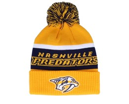 Nashville Predators Cuffed Knit Yellow/Black Pom - Adidas