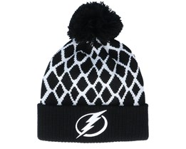 Tampa Bay Lightning Culture Cuffed Knit Black Pom - Adidas
