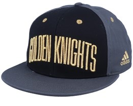 Vegas Golden Knights Flat Brim Black/Grey Snapback - Adidas