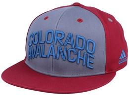 Colorado Avalanche Flat Brim Grey/Burgundy Snapback - Adidas