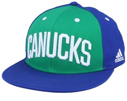 Vancouver Canucks Flat Brim Green/Blue Snapback - Adidas