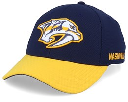 Nashville Predators Coach Navy/Yellow Flexfit - Adidas