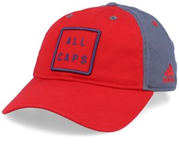 Washington Capitals Cotton Slouch Red/Grey Adjustable - Adidas