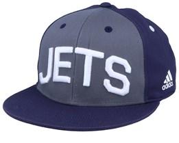 Winnipeg Jets Flat Brim Grey/Navy Snapback - Adidas