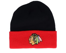Chicago Blackhawks Cuffed Black/Red Cuff - Adidas