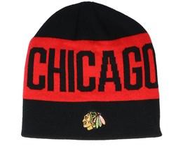 Chicago Blackhawks 19 Black/Red Beanie - Adidas