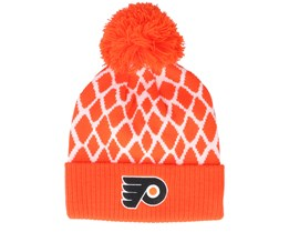 Philadelphia Flyers Culture Cuffed Knit Orange Pom - Adidas
