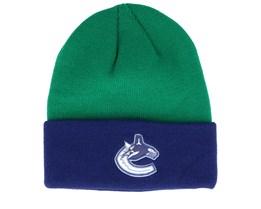 Vancouver Canucks Cuffed Green/Navy Cuff - Adidas