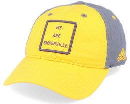 Nashville Predators Cotton Slouch Yellow/Grey Adjustable - Adidas