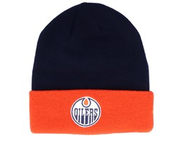 Edmonton Oilers Cuffed Navy/Orange Cuff - Adidas