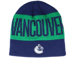 Vancouver Canucks 19 Navy/Green Beanie - Adidas