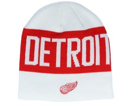 Detroit Red Wings 19 White/Red Beanie - Adidas