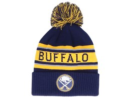Buffalo Sabres Cuffed Knit Navy/Yellow Pom - Adidas