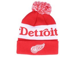Detroit Red Wings Cuffed Knit Red/White Pom - Adidas