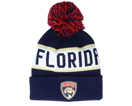 Florida Panthers Culture Cuffed Knit Navy Pom - Adidas
