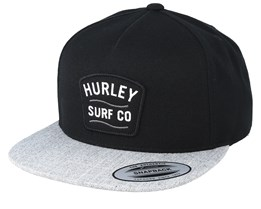 Derby Black/Grey Snapback - Hurley