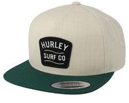 Derby Natural/Green Snapback - Hurley