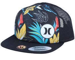 Kids Mixtape 2.0 Flowers Black/Black Trucker - Hurley