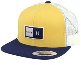 Natural Yellow/Navy/White Trucker - Hurley