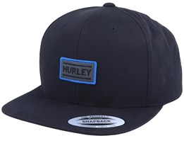 The Local Black/Black Snapback - Hurley