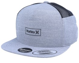 Phantom Locked Grey/Black Snapback - Hurley