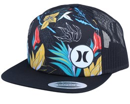 Mixtape 2.0 Flowers Black/Black Trucker - Hurley