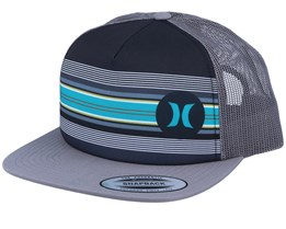 Mixtape 2.0 Stripes Charcoal/Grey/Grey Trucker - Hurley