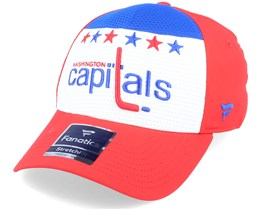 Washington Capitals Breakaway Alternate Jersey White/Blue/Red Flexfit - Fanatics