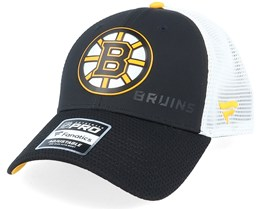 Boston Bruins Iconic Black/White Trucker - Fanatics