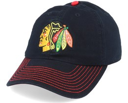 Chicago Blackhawks Fan Unstructured Black Adjustable - Fanatics