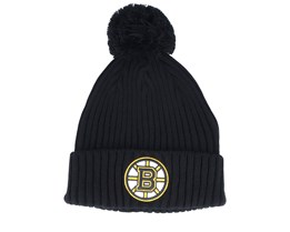 Boston Bruins Value Core Beanie Black Pom - Fanatics