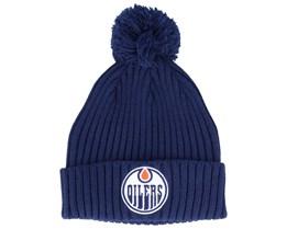 Edmonton Oilers Value Core Beanie Blue Pom - Fanatics