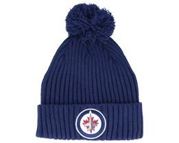 Winnipeg Jets Value Core Beanie Blue Pom - Fanatics