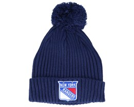 New York Rangers Value Core Beanie Blue Pom - Fanatics