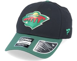 Minnesota Wild Draft Structured Stretch Black/Green Flexfit - Fanatics