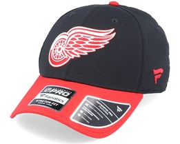 Detroit Red Wings Draft Structured Stretch Black/Red Flexfit - Fanatics