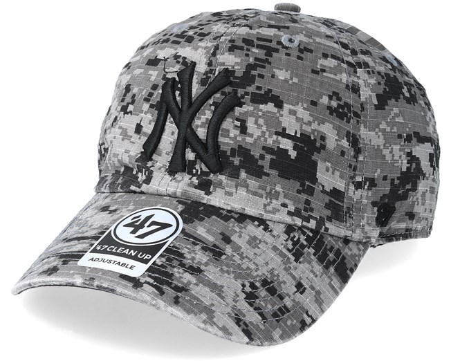 6bff255fe289f New York Yankees Phalanx 47 Clean Up Digital Grey Camo Adjustable - 47 Brand