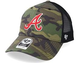 Atlanta Braves Branson 47 Mvp Camo/Black Trucker - 47 Brand