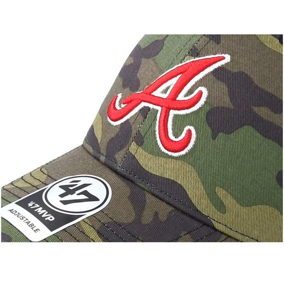 cbaf4503807f2 Atlanta Braves Branson 47 Mvp Camo Black Trucker - 47 Brand caps ...