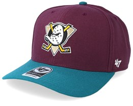 Anaheim Ducks Cold Zone Two Tone 47 Mvp Plum/Teal Adjustable - 47 Brand