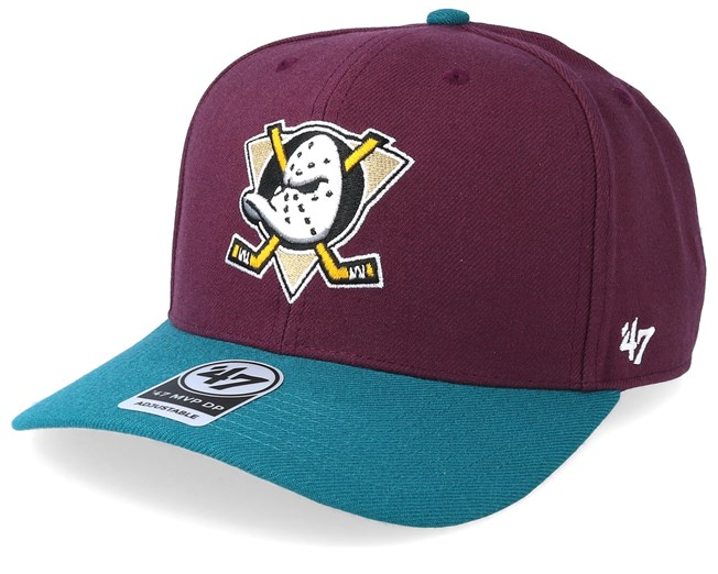 Anaheim Ducks Cold Zone Two Tone 47 Mvp Plum Teal Adjustable - 47 Brand -  Start Cappellino - Hatstore d9cad17ffbd3