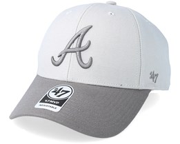 Atlanta Braves Two Tone Steel Grey Adjustable - 47 Brand