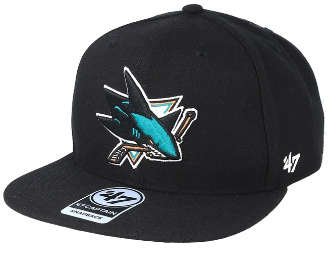pretty nice 1d37d 79103 San Jose Sharks No Shot 47 Captain Black Snapback - 47 Brand caps -  Hatstoreworld.com