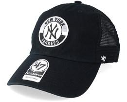 New York Yankees Clean Up Mesh Black Trucker - 47 Brand