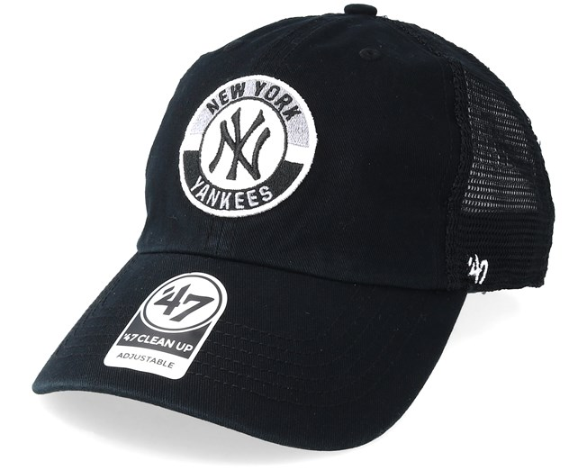 New York Yankees Clean Up Mesh Black Trucker - 47 Brand cap - Hatstore.co.in 3af2d9ccd674