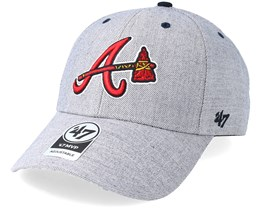 Atlanta Braves Storm Cloud 47 Mvp Charcoal/Red Adjustable - 47 Brand