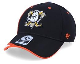 Anaheim Ducks Neutral Zone Mvp Black/Orange Adjustable - 47 Brand