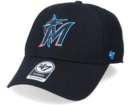 Miami Marlins Mvp Black/Blue Adjustable - 47 Brand