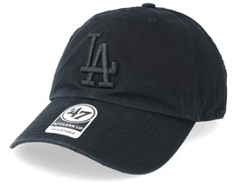 Los Angeles Dodgers 47 Clean Up Black Adjustable - 47 Brand